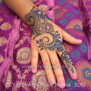 Stylish Bail Glitter Mehndi Designs (1)