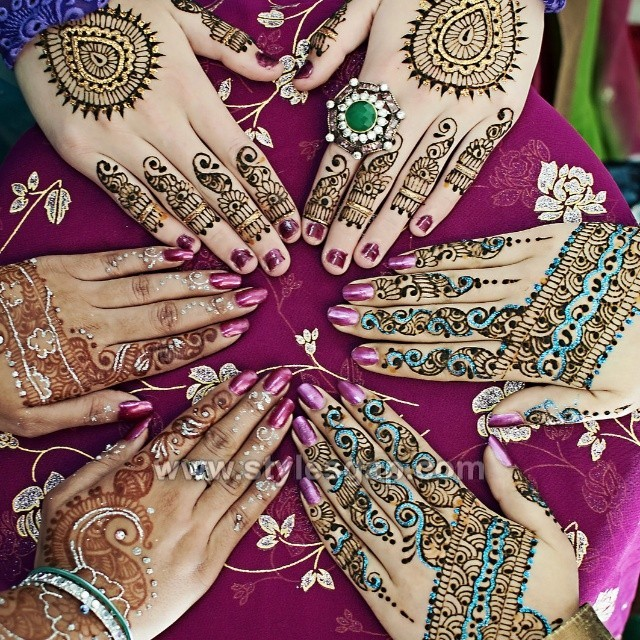 Stylish Eid Glitter Mehndi Designs (12)