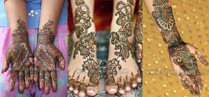 Stylish Glitter Mehndi Designs Trends 2018-19 Collection