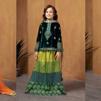 Maria B Fancy Kids Dresses Designs for Girls 2021-22 Collection