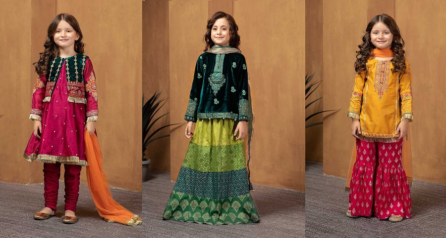Maria B Fancy Kids Dresses Designs For Girls 2020 21 Collection