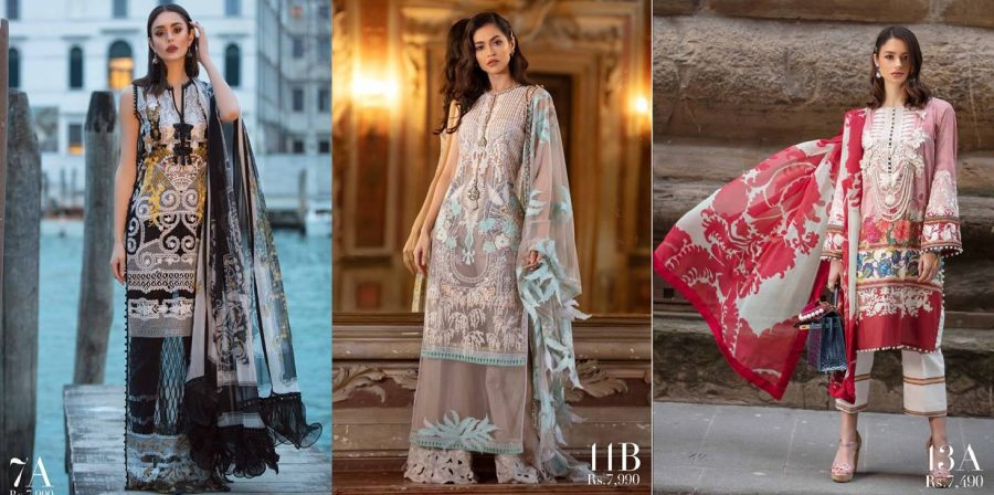 Sana Safinaz Best Summer Lawn Dresses Latest Collection 2019-2020