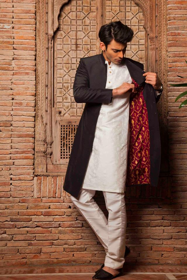 silk by fawad khan menswear dresses sherwanis kurta shalwar collection 2018-2019  8