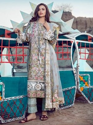 76aa8272b1 Top Pakistani Lawn Brands Designer Dresses Collections 2018
