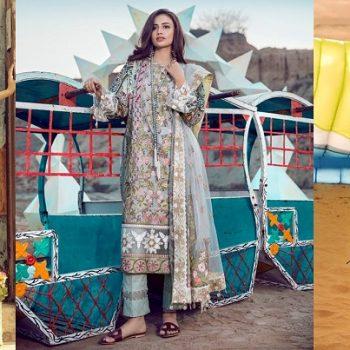 Top Pakistani Lawn Brands Designer Dresses Collections 2018