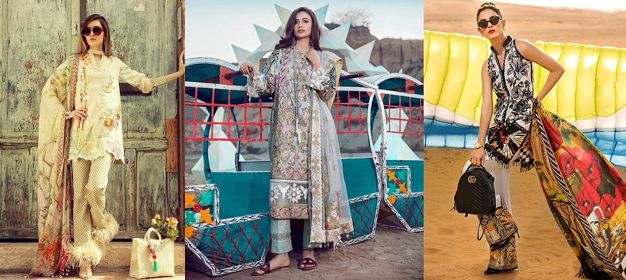 Top Pakistani Lawn Brands Designer Dresses Collections 2018
