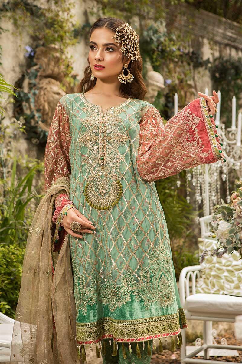 31a47be65b5a Today we will share Best Eid Women Dresses Maria B Mbroidered Eid  Collection 2019-2020.