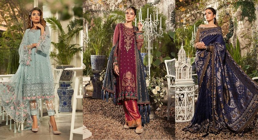 Best Eid Women Dresses Maria B Mbroidered Eid Collection 2019