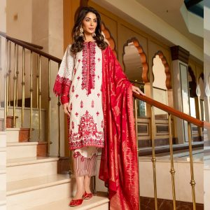 red and white eid dress