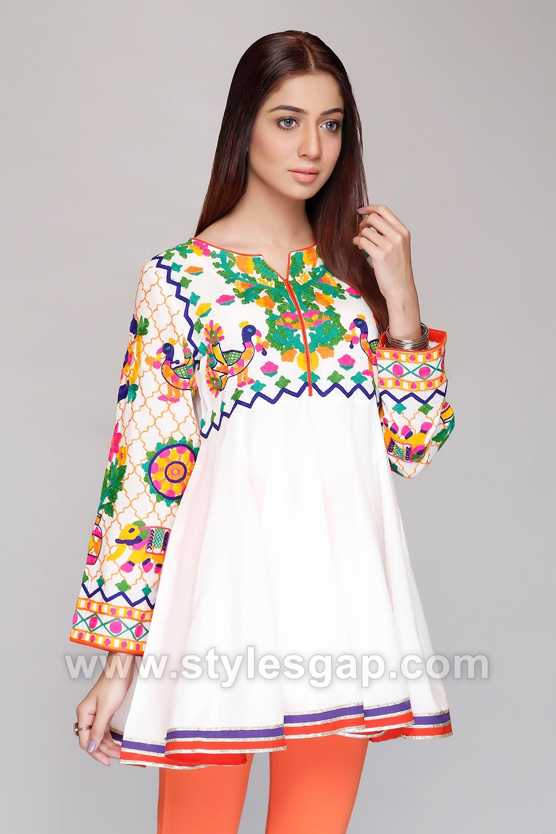 Clothing, Shoes & Accessories Pakistani Designer Needle Impression Winter Kurta/ Shirt Khaadi Aghanoor To Suit The PeopleS Convenience