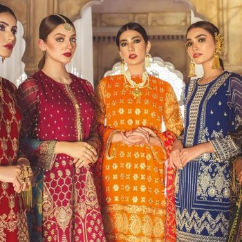 Khaadi Lawn Chiffon Eid Dresses Designs Collection 2019