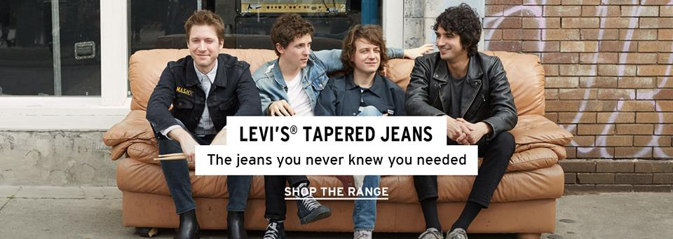 Levi's Pakistan Latest Men Tapered Jeans Trends & Fashion