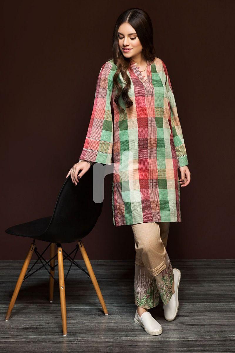 2 Piece Un Stitched Nishat Linen Winter Dresses Designs