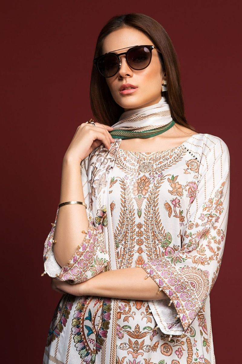winter printed khaddar dress Nishat Linen Winter Dresses Collection