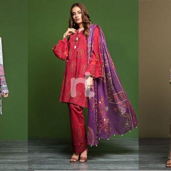 3 piece un-stitched – Nishat Linen Winter Dresses Collection 2019-2020