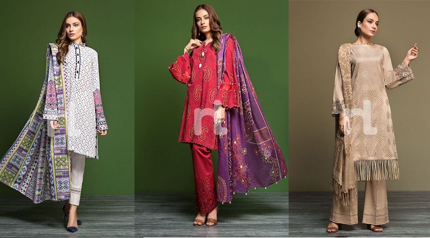 3 piece un-stitched – Nishat Linen Winter Dresses Collection 2019-2020