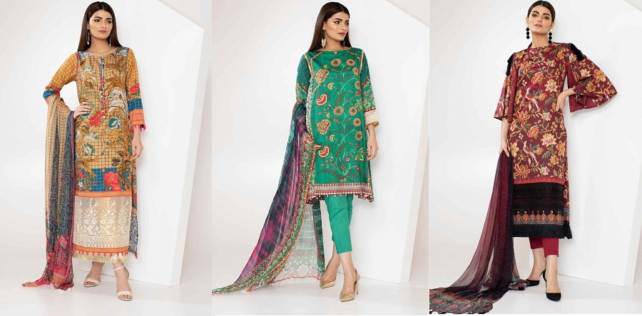 Khaadi Winter Collection Cambric Dresses Designs 2018-2019