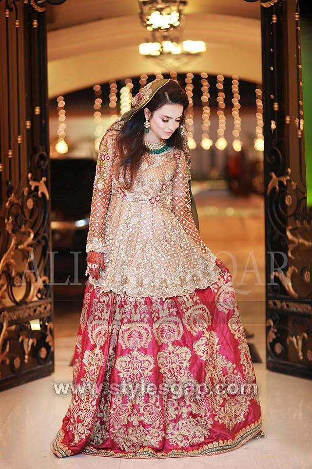 9996a5f33dc Lehenga with peplum is the new latest trend and loved by the brides these  days. The length of peplum can be varied