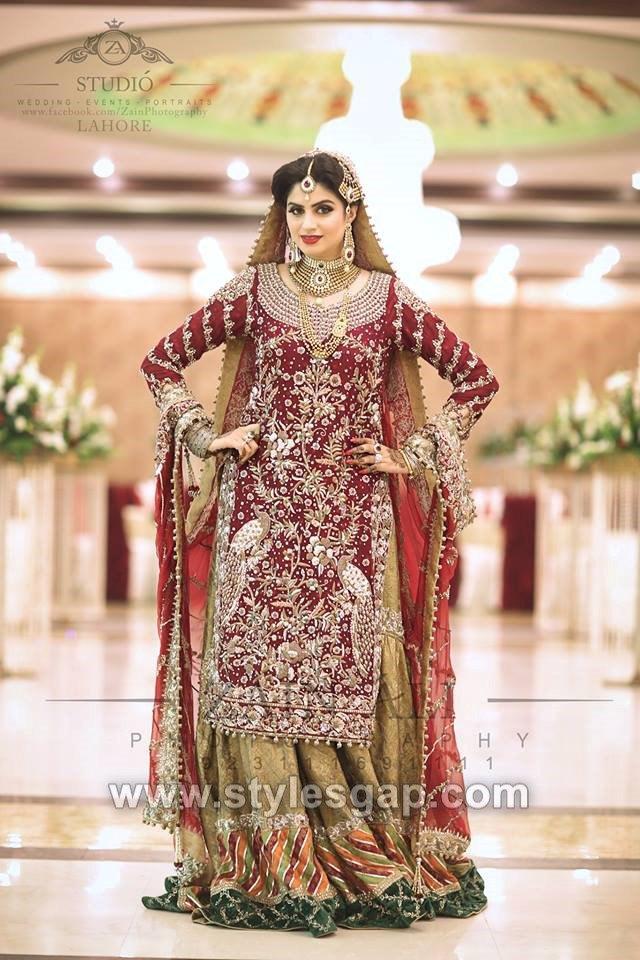 06c373e55d0 40 Best Designs Pakistani Latest Bridal Lehenga Collection 2019-20