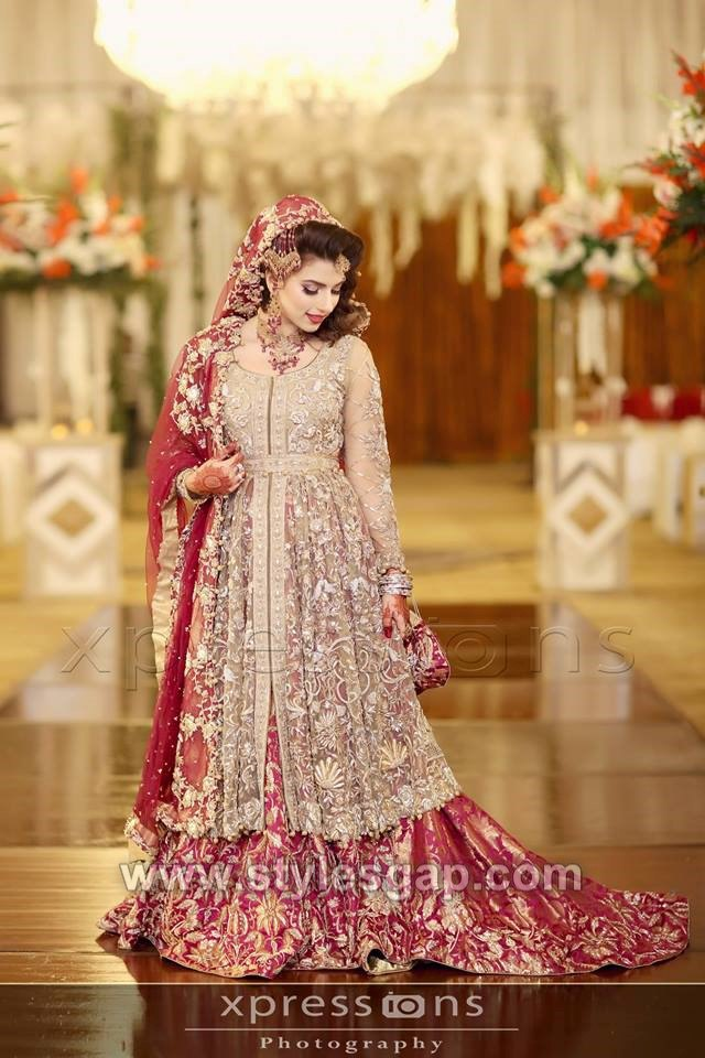 309687d7330 Front open style frock or shirt can be the best to pair with bridal lehenga.  This trend also works great and after your wedding