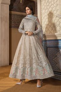 Maria B Embroidered Formal Winter Dresses