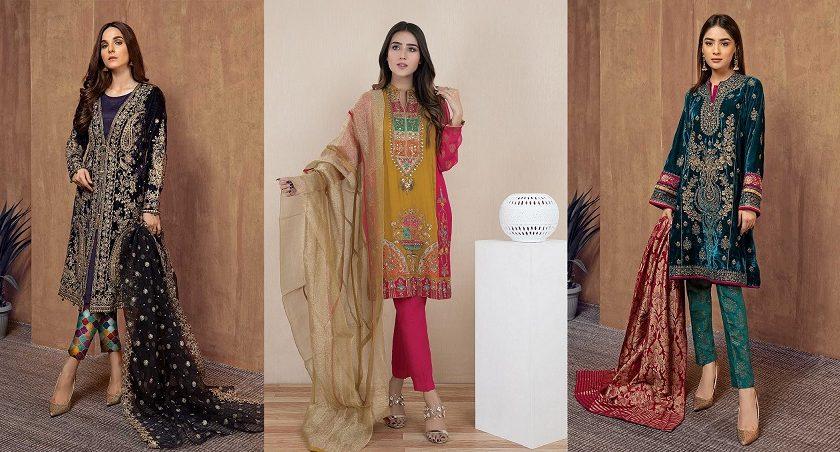 Pakistani Fashion Latest Women Best Winter Dresses 2019-2020 Designs