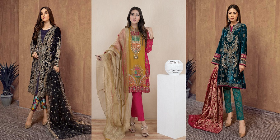 Latest Women Best Winter Dresses Designs Collection 2019,20