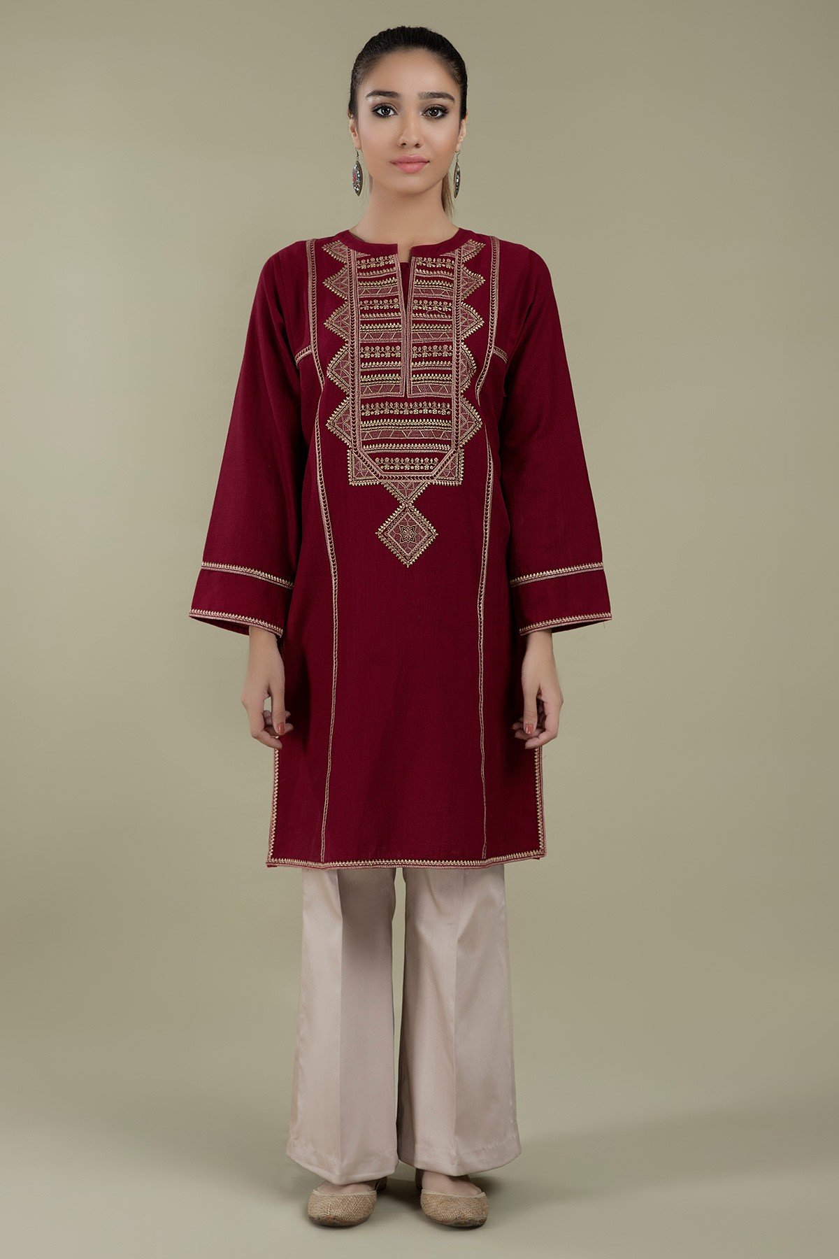 Maroon Trible kurta
