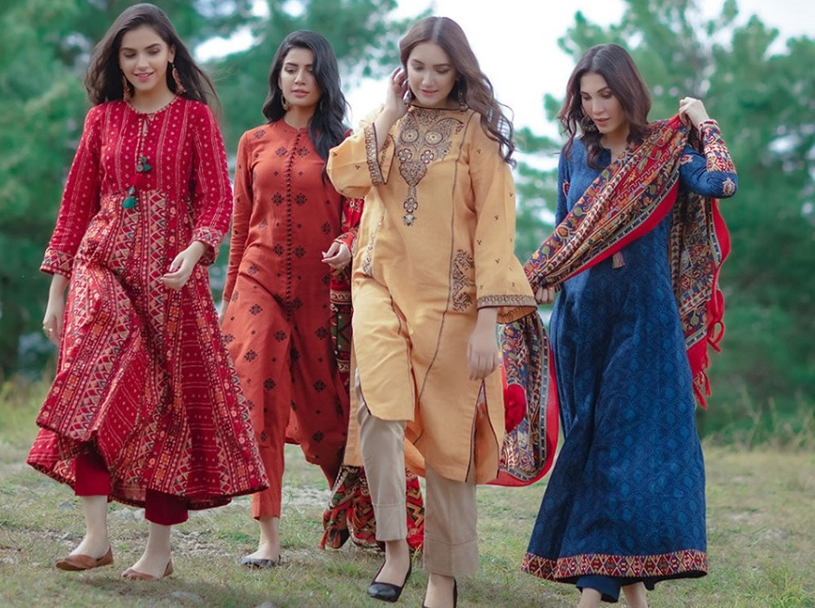 Kayseria Best Winter Dresses Collection 2019-2020 for Women & Little Girls