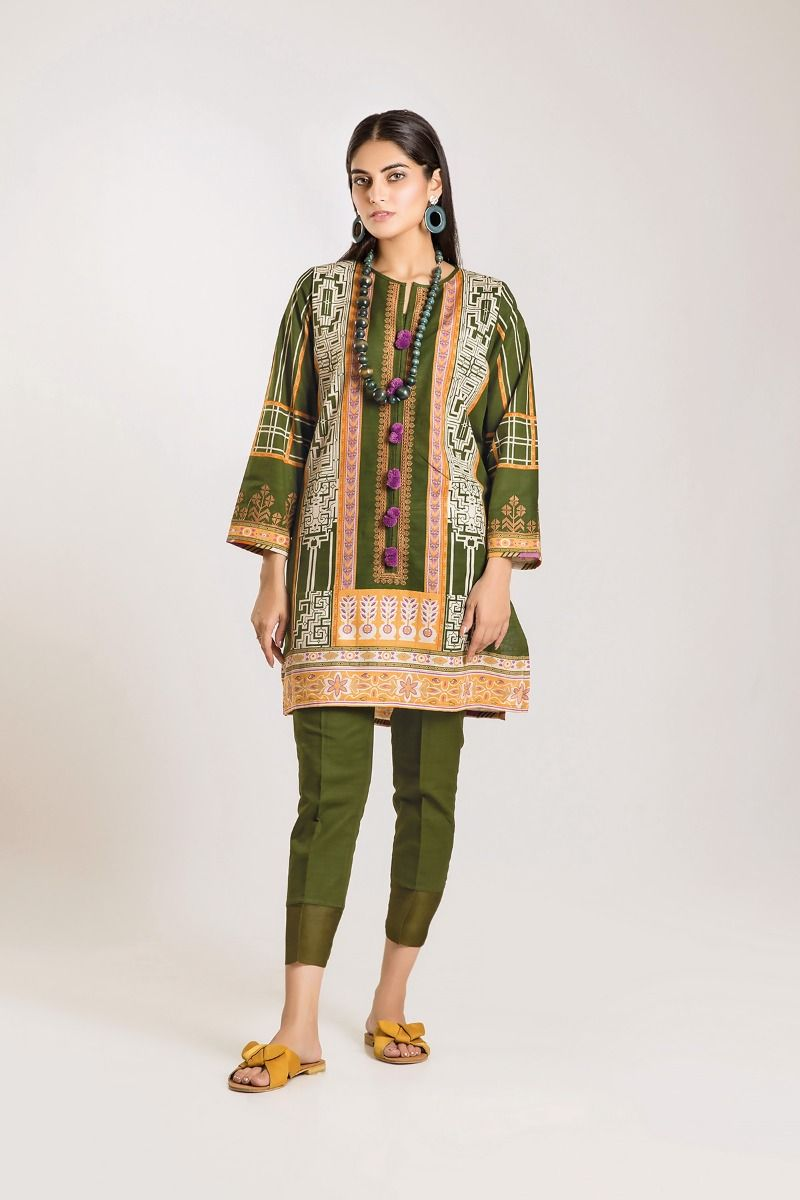 Khaadi Winter shirt Dresses Designs