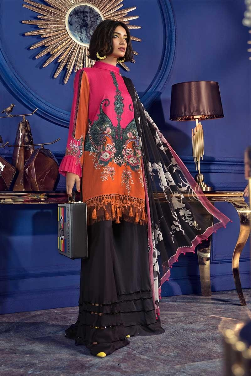 Latest Maria B Winter Printed Dresses