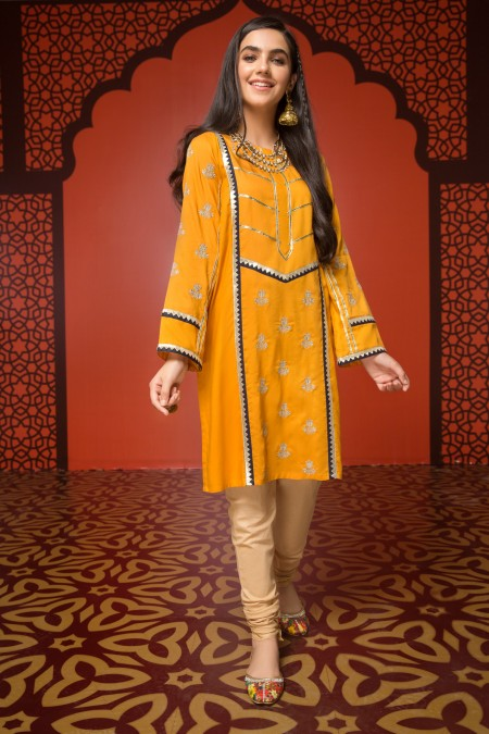 mastard yellow kurta