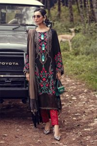 Maria B Latest Winter Linen Dresses Fancy Shawl Collection