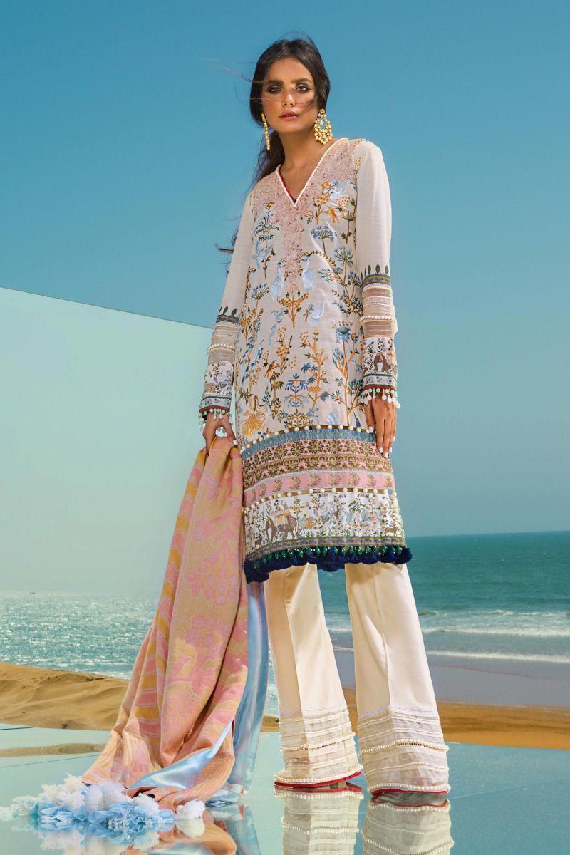 Latest Sana Safinaz Winter Shawl Dresses Collection 2019 2020