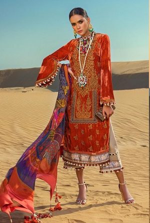 Latest Sana Safinaz Winter Shawl Dresses Collection 2019-2020