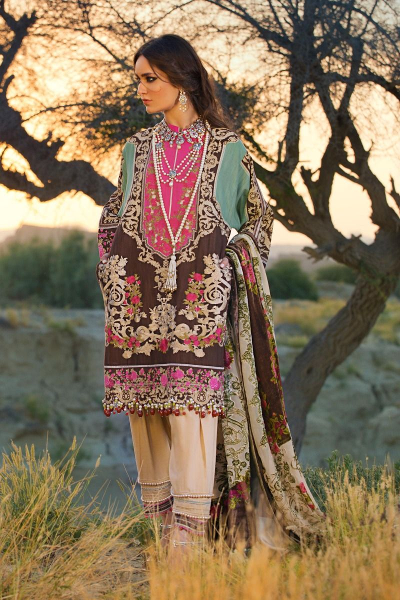 Sana Safinaz Winter Shawl Dresses Collection