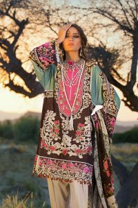 Sana Safinaz Winter Shawl Dresses Collection