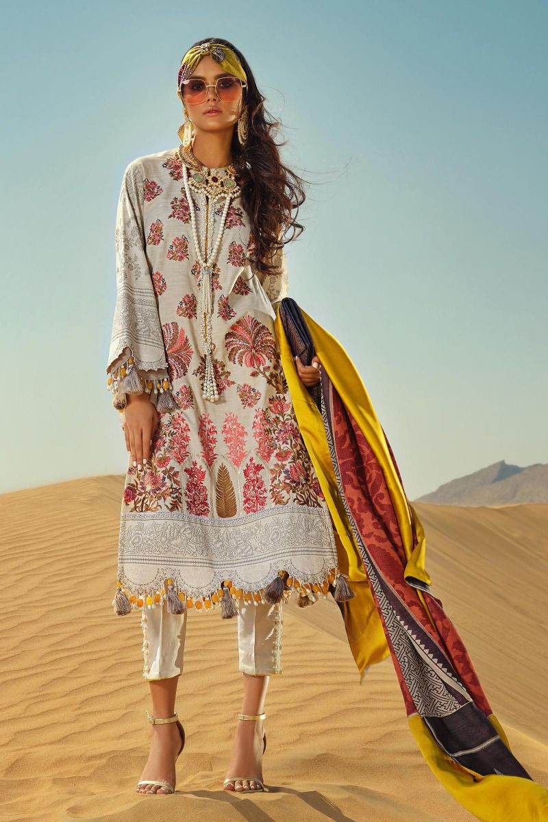 lovely white embroidered winter suit