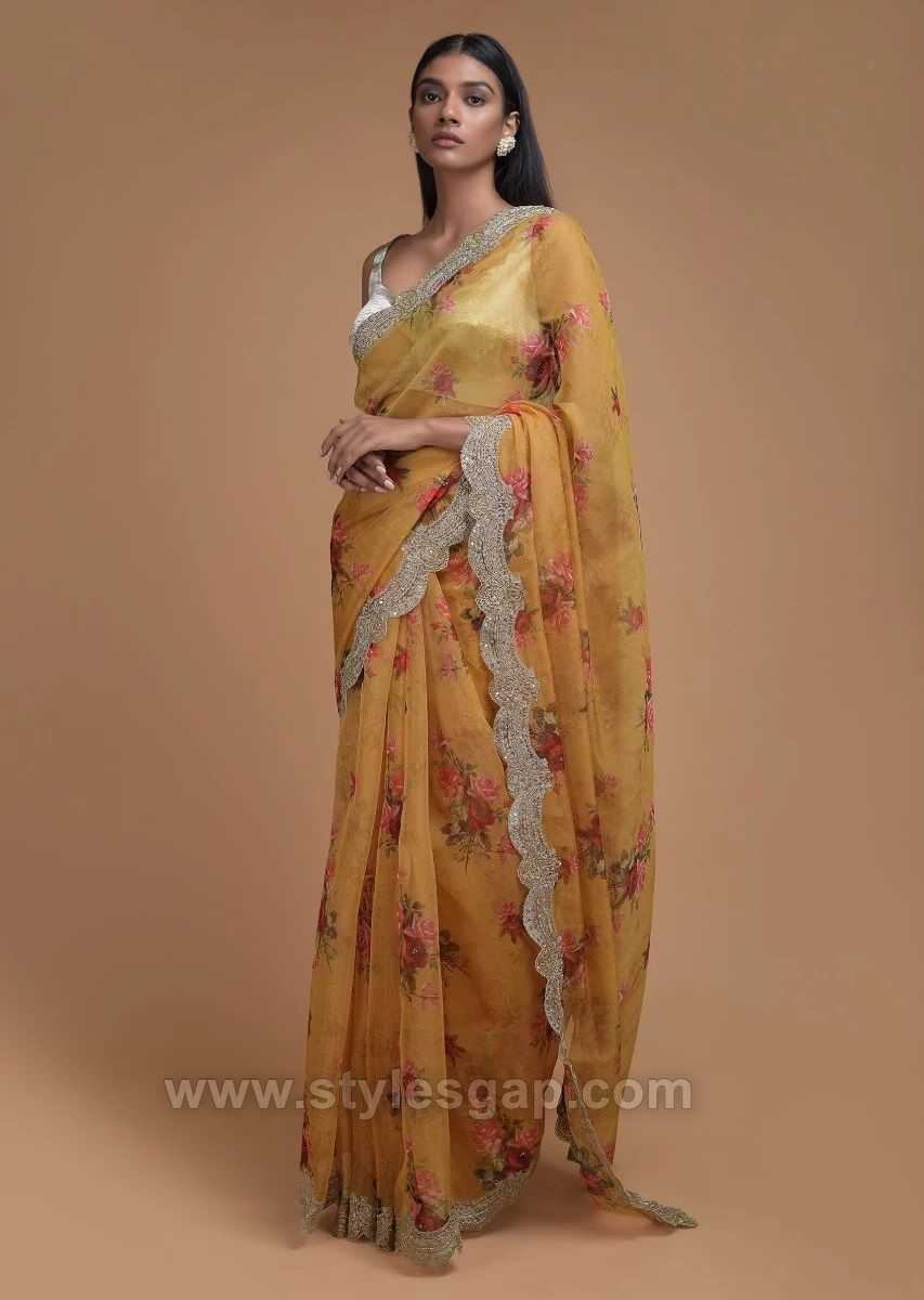 Latest Indian Party Wear Fancy Sarees Designs