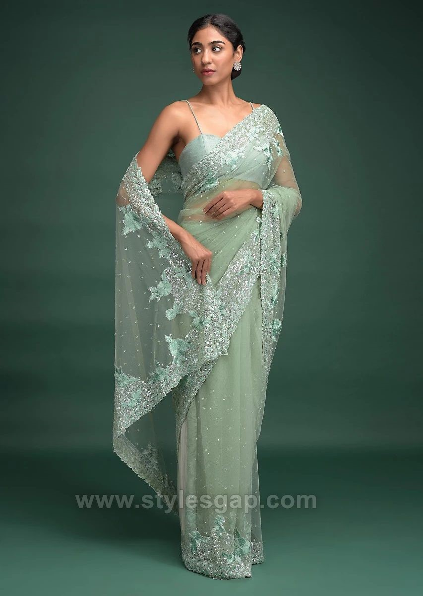 pastel color sarees