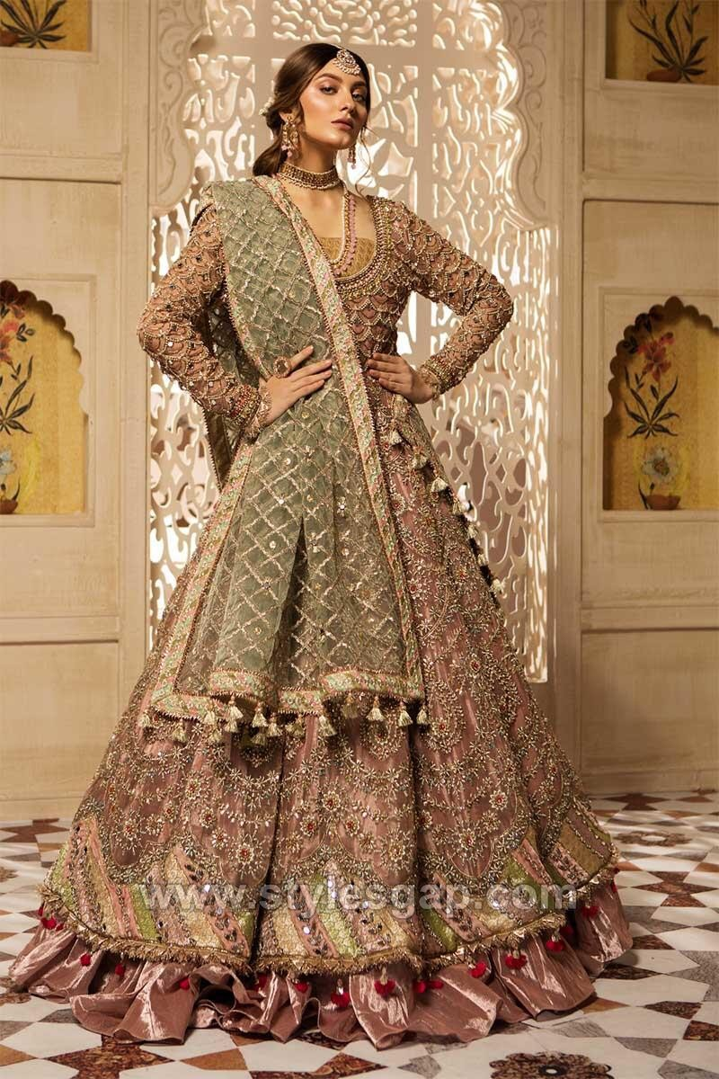 Maria B Latest Pakistani Formal Wedding Dresses Collection 2020 2021,Traditional Indian Wedding Guest Dresses For Girls