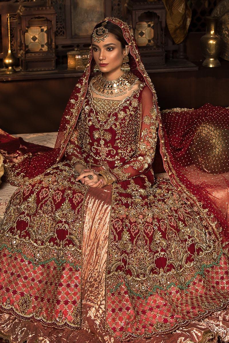 Pakistani Designer Bridal Dresses Maria B Brides 2020 2021 Collection,Wedding Guest Simple Rose Gold Casual Dress