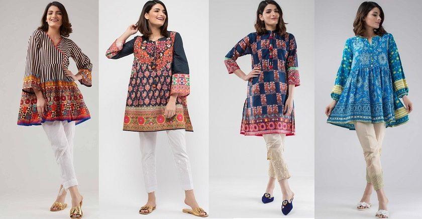 Khaadi Stylish Summer Kurtas & Dresses Pret Spring Collection 2018-2019