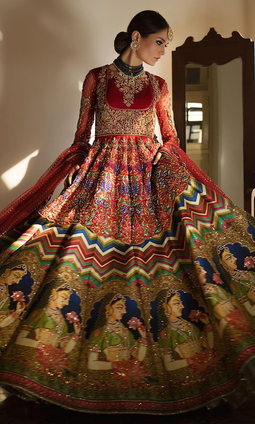 Nomi Ansari Latest Heavy Embroidered Bridal Dresses