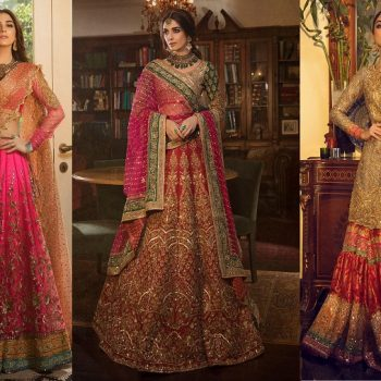 Nomi Ansari Latest Heavy Embroidered Bridal Dresses Collection 2021