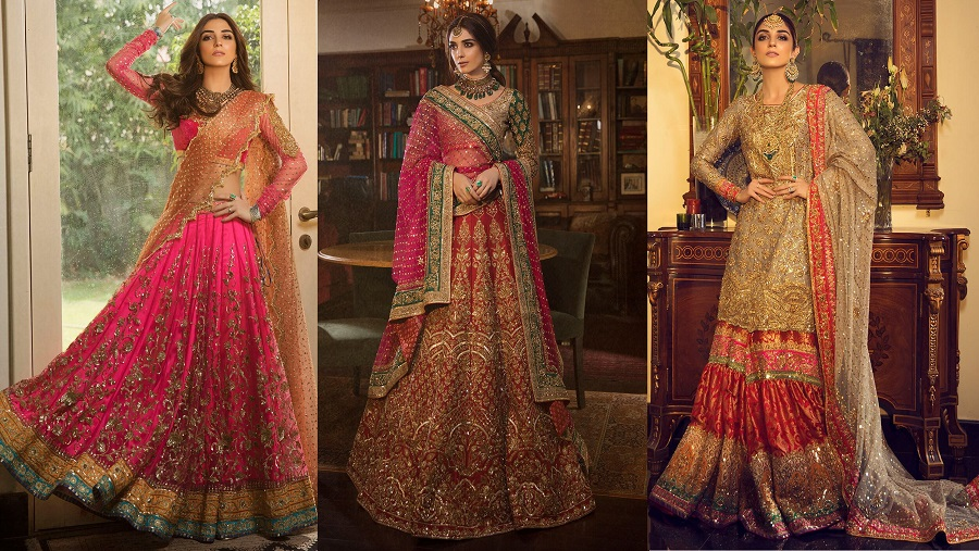 Nomi Ansari Latest Heavy Embroidered Bridal Dresses Collection 2019-2020