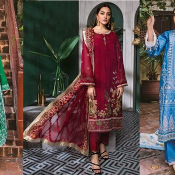 Gul Ahmed Summer Embroidered Lawn Dresses Collection 2021