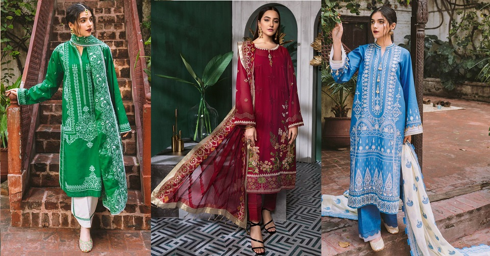 Gul Ahmed Latest Summer Embroidered Lawn Dresses Collection