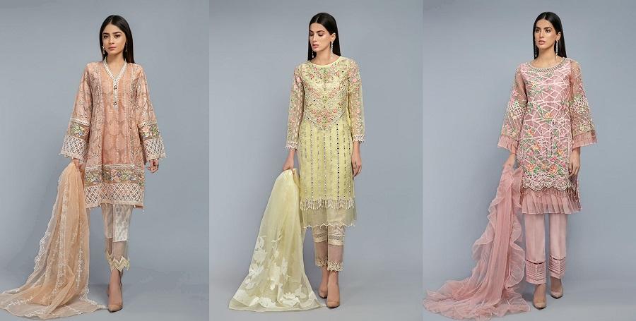 Latest Maria B Pret Stitched Summer Dresses Designs