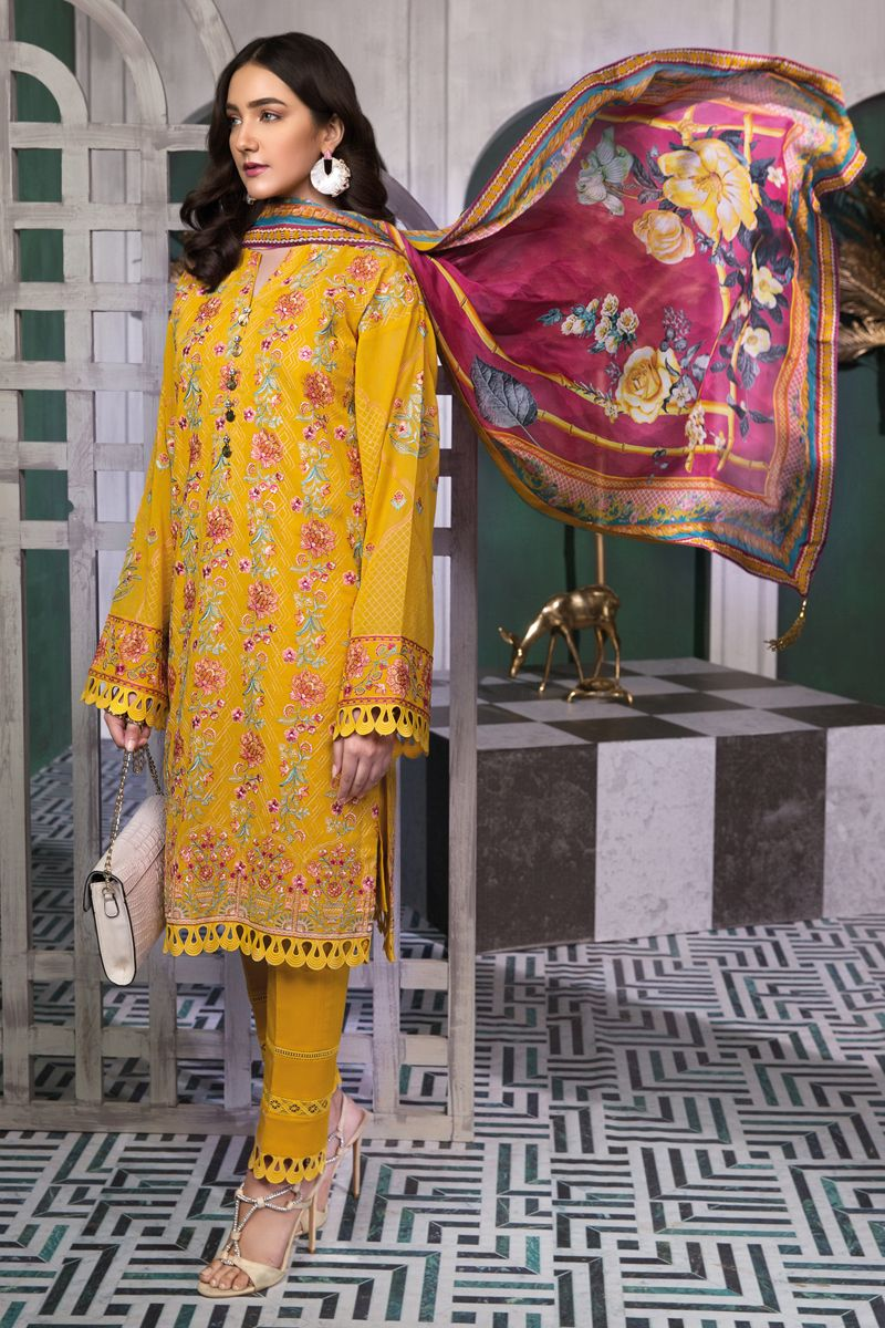 Gul Ahmed Summer Embroidered Lawn Dresses Collection